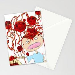 Mom! I don't like meatballs Stationery Cards
