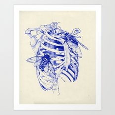 collarbone blue Art Print