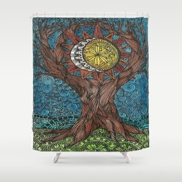 WORLD TREE Shower Curtain