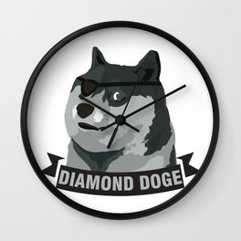 DIAMOND DOGE Wall Clock