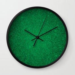 Jade Green Sparkling Jewels Pattern Wall Clock
