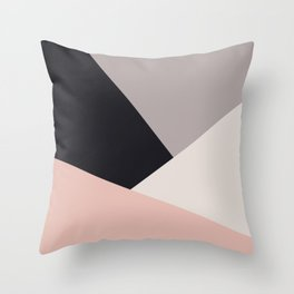 Elegant & colorful geometric Throw Pillow
