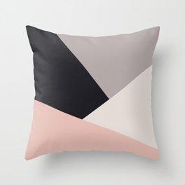 Elegant & colorful geometric Throw Pillow