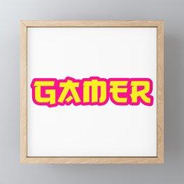 GAMER Framed Mini Art Print
