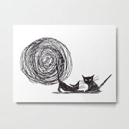 Moon me kitty Metal Print