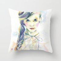 ultraviolence Throw Pillows featuring Ultraviolence by Cora-Tiana