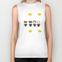 cabin pressure Biker Tanks featuring Cabin Pressure: The Lemon is With You by Le Bear Polar