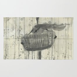 """ACCORDION. A SERIES OF WORKS """"MUSIC OF THE RAIN"""" Rug"""