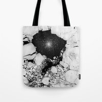 cracked Tote Bags featuring Cracked by Andrea Orlic
