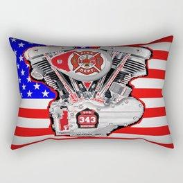 Fire Dept Tribute Rectangular Pillow