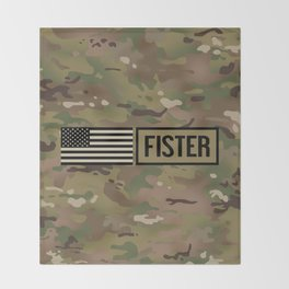 Fister (Camo) Throw Blanket
