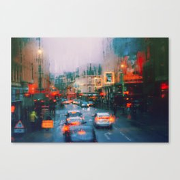 Beautiful traffic lights in london Canvas Print