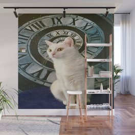 The mysterious kitty Tyche Wall Mural
