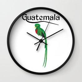 Guatemala Quetzal Chapin Guate Antigua Coffee Peten Tikal Maya Puchica Gift Retro Women Men Mujer Wall Clock