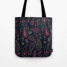 Purpley Paisleys Tote Bag