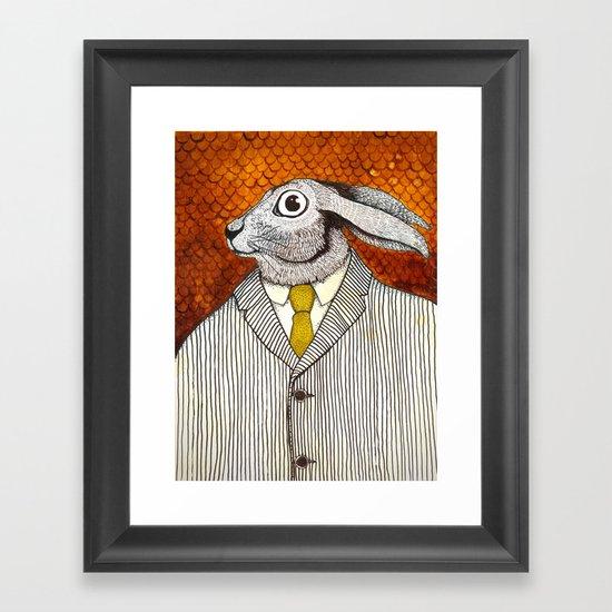 El conejo careta Framed Art Print