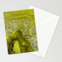 Green pantone agate mineral gem stone - Beautiful backdrop Stationery Cards