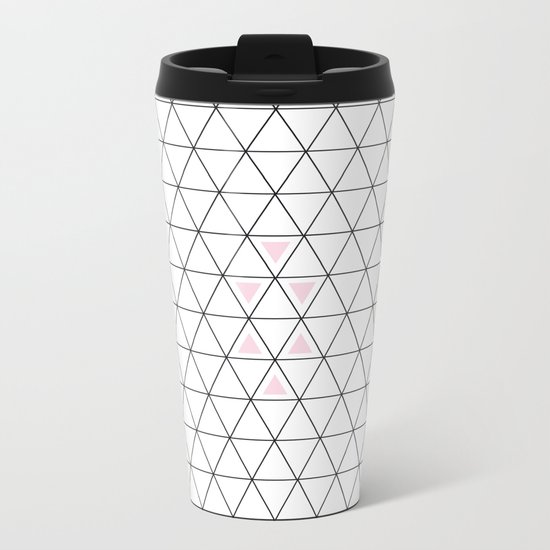 Pink triangle Metal Travel Mug