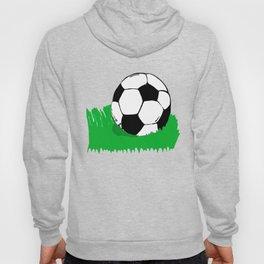 Soccer Ball In Grass Printmaking Art Hoody