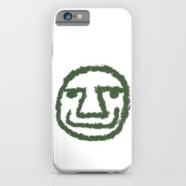 Minimalist Brush Stroke Face 008 iPhone Case