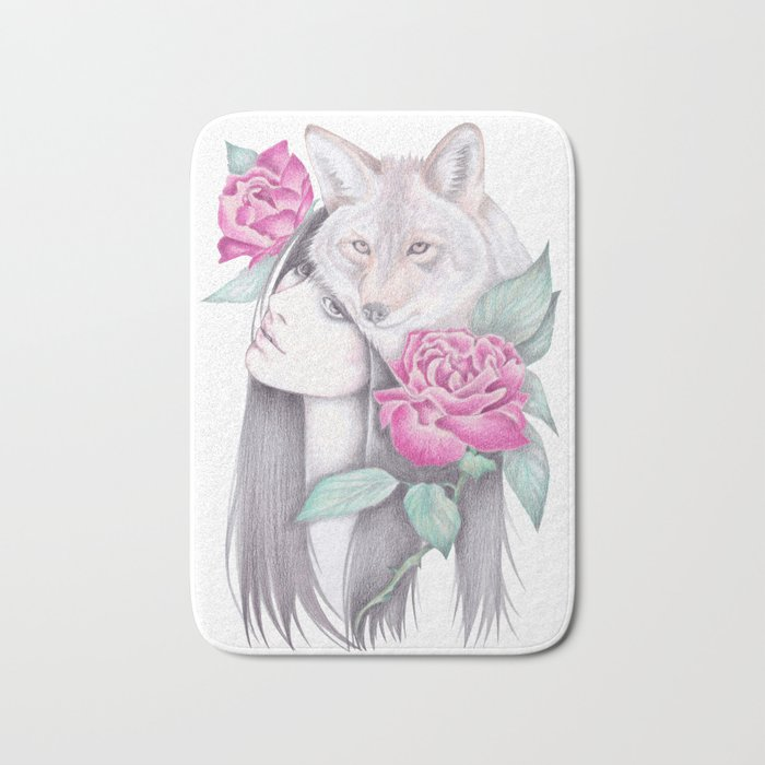 Wild Roses Bath Mat