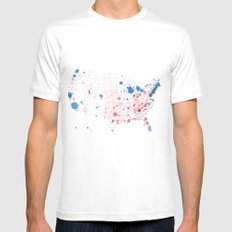 Election Mapping 2008 MEDIUM Mens Fitted Tee White