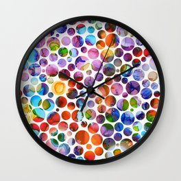 Dots on Painted Background 5 Wall Clock
