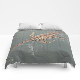 Elasmosaurus Skeleton Study Comforters