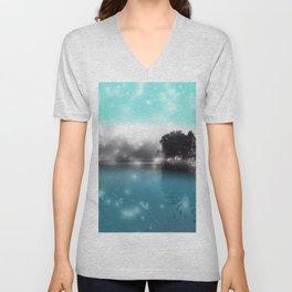 Peace and Tranquility Landscape Unisex V-Neck