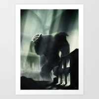 shadow of the colossus Art Prints featuring Barba the Colossus by onez