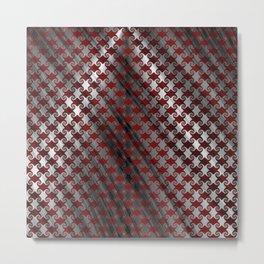 Red Metallic Swirl Metal Print
