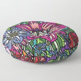 """Skull Garden III"" by Schmiedlin 2013 Floor Pillow"