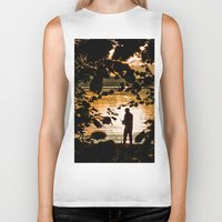 fishing Biker Tanks featuring Fishing by Svetlana Korneliuk