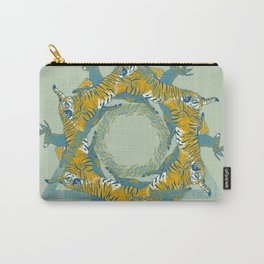 tiger and deer Carry-All Pouch
