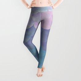 Pastel Mermaid Scales Pattern Leggings
