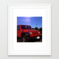 jeep Framed Art Prints featuring Jeep by Keyao