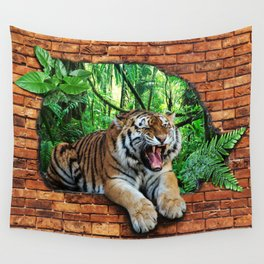 Tiger - Window To The Jungle Wall Tapestry