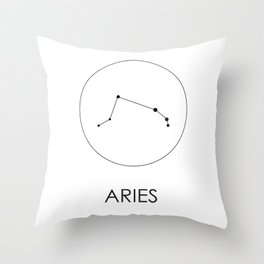 Aries Stars Throw Pillow