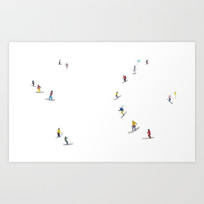 Ski Kunstdrucke