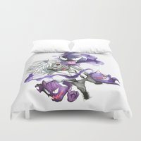 tokyo ghoul Duvet Covers featuring Tokyo Ghoul Gym Leader by Blackapinaa