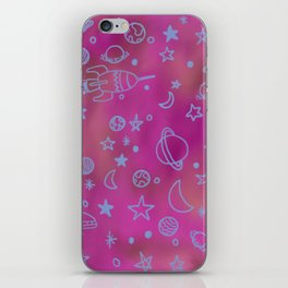 Space doodles iPhone Skin