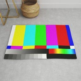 SMPTE Television TV Color Bars Rug