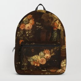 "Jan van Kessel ""Madonna with the Child Framed with a Garland of Flowers"" Backpack"