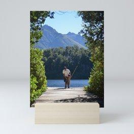 Father and son in Bariloche Mini Art Print