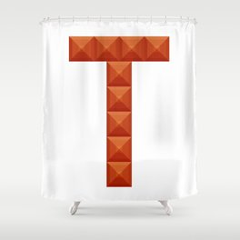 """Letter """"T"""" print in beautiful design Fashion Modern Style Shower Curtain"""
