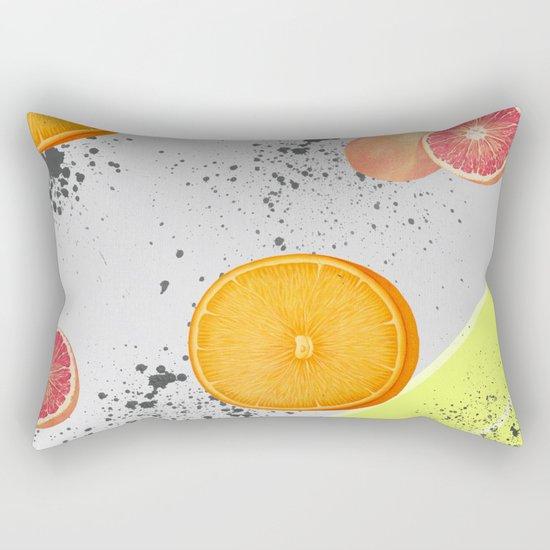 Orange and Grapefruit Rectangular Pillow