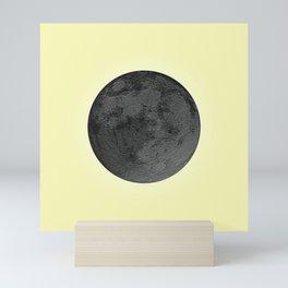 BLACK MOON + CANARY YELLOW SKY Mini Art Print