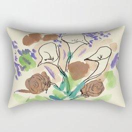 Bouquet of Calla Lillies by John E. Rectangular Pillow