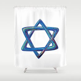 Shield of David. Star of David Shower Curtain