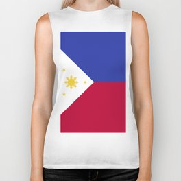 Philippines flag emblem Biker Tank